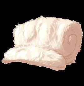 Large Animal Pelt - Albino